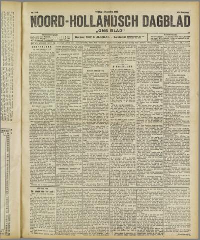 Ons Blad : katholiek nieuwsblad voor N-H 1922-12-01