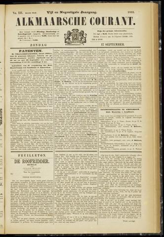 Alkmaarsche Courant 1893-09-17