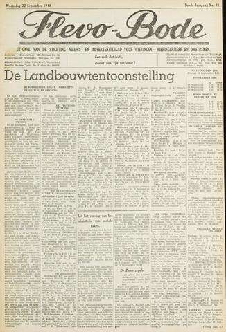 Flevo-bode: nieuwsblad voor Wieringen-Wieringermeer 1948-09-22
