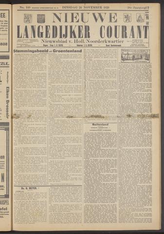 Nieuwe Langedijker Courant 1929-11-26