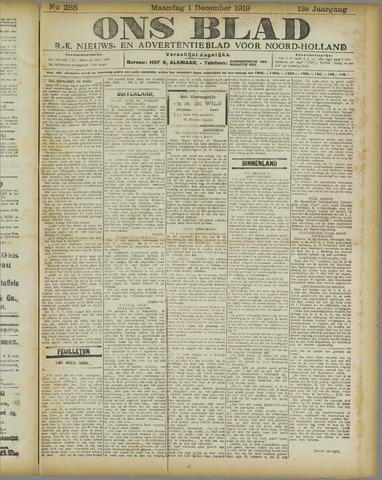 Ons Blad : katholiek nieuwsblad voor N-H 1919-12-01