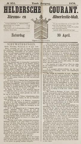 Heldersche Courant 1870-04-30