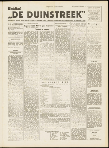 De Duinstreek 1953-01-16