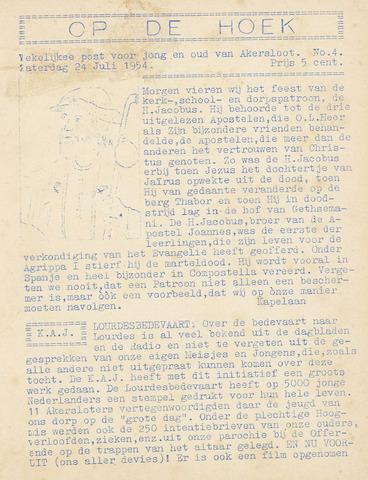 Op De Hoek, weekblad voor Akersloot 1954-07-24