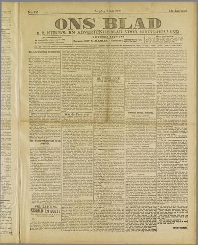 Ons Blad : katholiek nieuwsblad voor N-H 1920-07-02