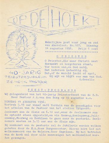 Op De Hoek, weekblad voor Akersloot 1956-08-14