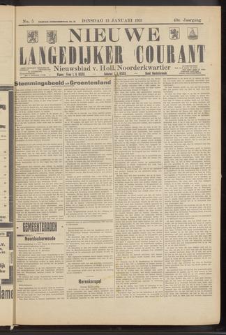 Nieuwe Langedijker Courant 1931-01-13