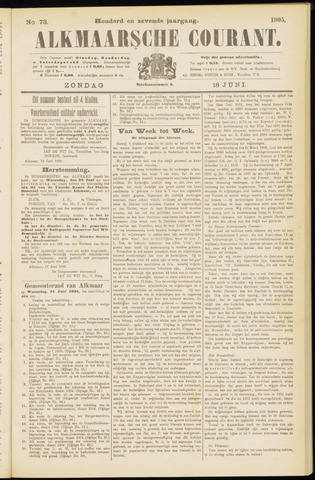 Alkmaarsche Courant 1905-06-18