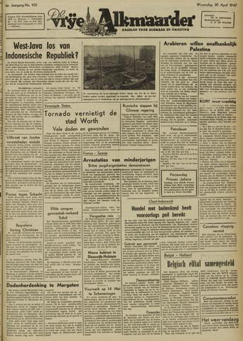 De Vrije Alkmaarder 1947-04-30
