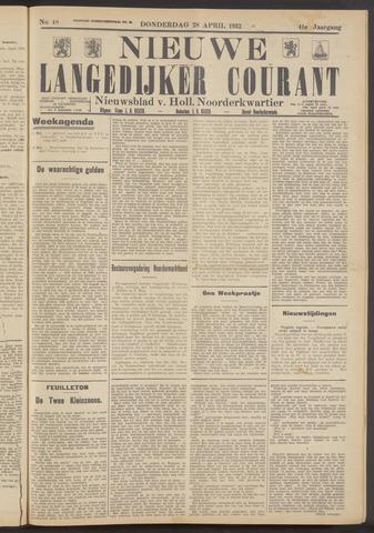 Nieuwe Langedijker Courant 1932-04-28