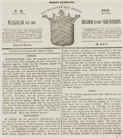 Weekblad van Den Helder en het Nieuwediep 1843-05-29