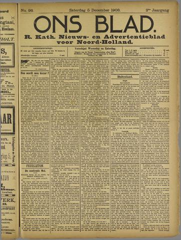 Ons Blad : katholiek nieuwsblad voor N-H 1908-12-05