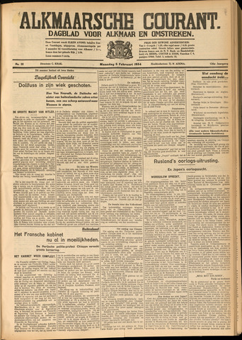 Alkmaarsche Courant 1934-02-06