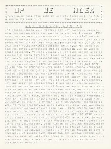 Op De Hoek, weekblad voor Akersloot 1961-06-23