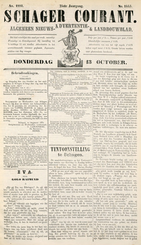 Schager Courant 1881-10-13