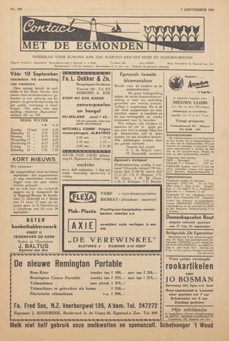 Contact met de Egmonden 1961-09-07