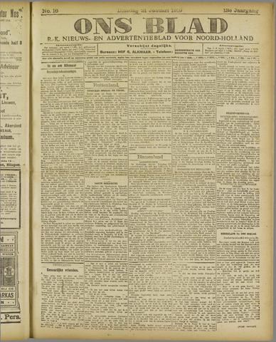 Ons Blad : katholiek nieuwsblad voor N-H 1919-01-21