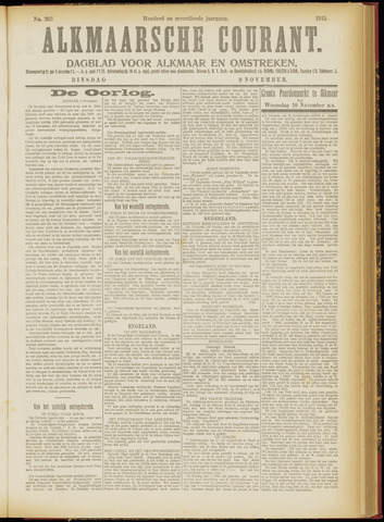 Alkmaarsche Courant 1915-11-09