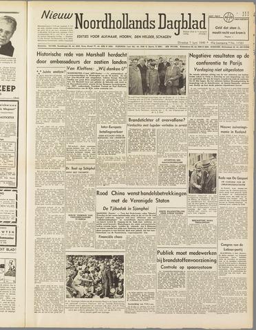 Nieuw Noordhollandsch Dagblad : voor Alkmaar en omgeving 1949-06-07