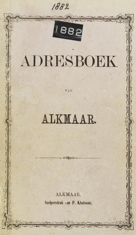Adresboek van Alkmaar 1882-01-01