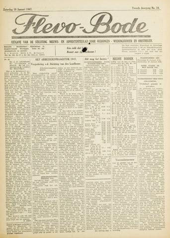 Flevo-bode: nieuwsblad voor Wieringen-Wieringermeer 1947-01-18