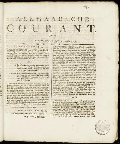 Alkmaarsche Courant 1816-05-27