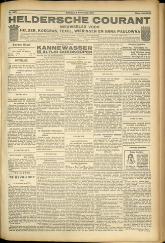 Heldersche Courant 1927-08-02
