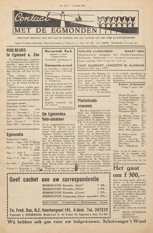 Contact met de Egmonden 1964-03-05