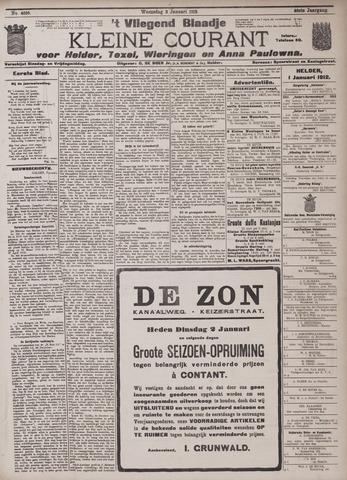 Vliegend blaadje : nieuws- en advertentiebode voor Den Helder 1912-01-03