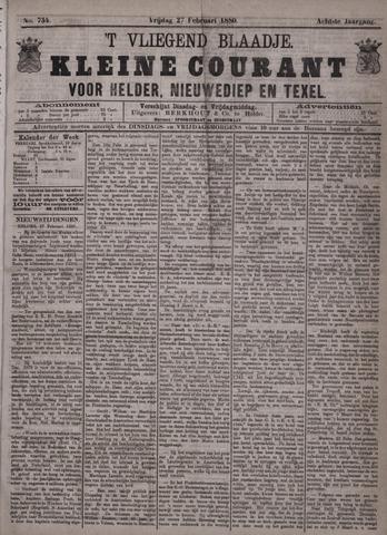 Vliegend blaadje : nieuws- en advertentiebode voor Den Helder 1880-02-27
