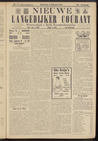 Nieuwe Langedijker Courant 1929-02-09