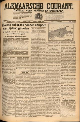 Alkmaarsche Courant 1939-10-06
