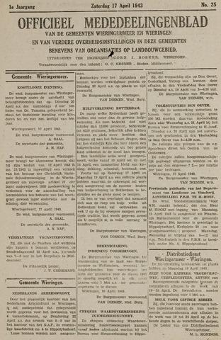 Mededeelingenblad Wieringermeer en Wieringen 1943-04-17