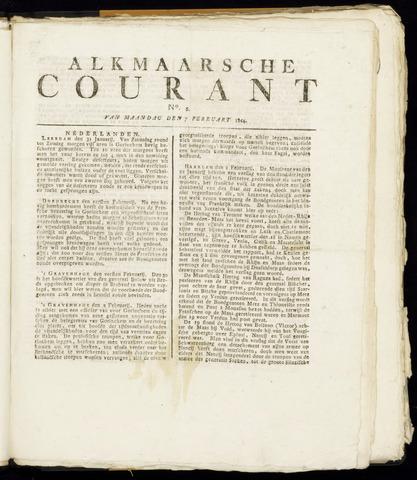 Alkmaarsche Courant 1814-02-07