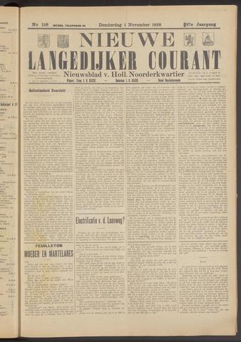 Nieuwe Langedijker Courant 1928-11-01