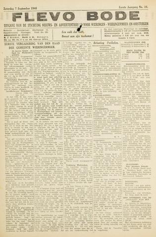 Flevo-bode: nieuwsblad voor Wieringen-Wieringermeer 1946-09-07