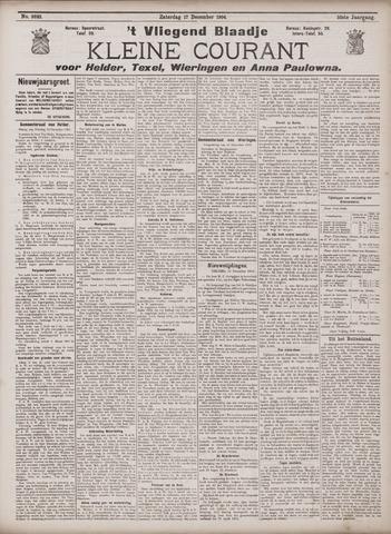 Vliegend blaadje : nieuws- en advertentiebode voor Den Helder 1904-12-17