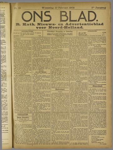 Ons Blad : katholiek nieuwsblad voor N-H 1909-02-10
