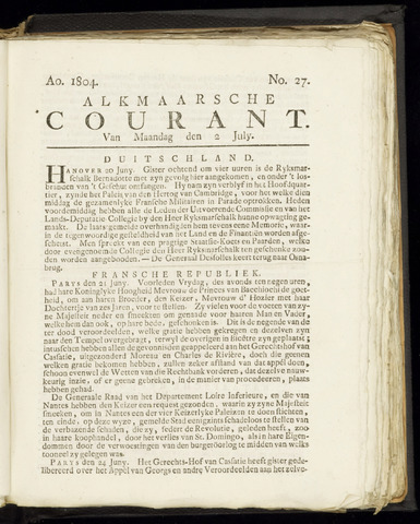 Alkmaarsche Courant 1804-07-02