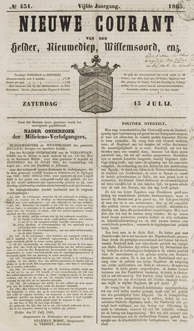Nieuwe Courant van Den Helder 1865-07-15