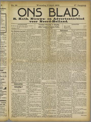 Ons Blad : katholiek nieuwsblad voor N-H 1908-04-08