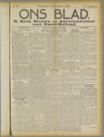 Ons Blad : katholiek nieuwsblad voor N-H 1909-11-10