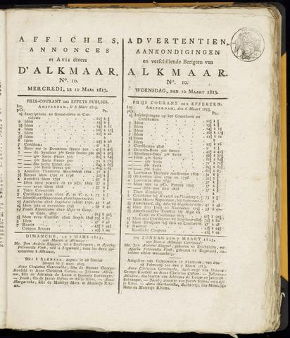 Alkmaarsche Courant 1813-03-10
