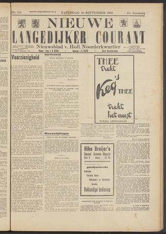 Nieuwe Langedijker Courant 1932-09-10