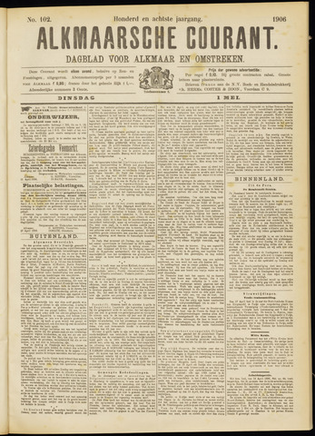 Alkmaarsche Courant 1906-05-01