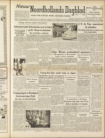 Nieuw Noordhollandsch Dagblad : voor Alkmaar en omgeving 1949-09-12