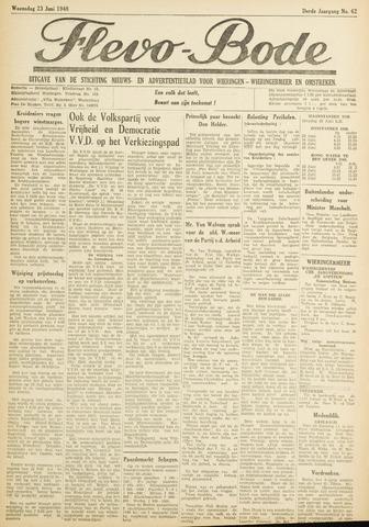 Flevo-bode: nieuwsblad voor Wieringen-Wieringermeer 1948-06-23