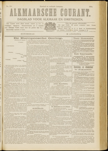 Alkmaarsche Courant 1914-08-20