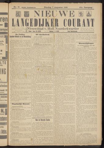 Nieuwe Langedijker Courant 1928-08-07