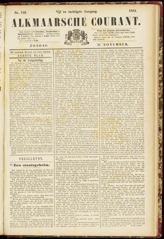 Alkmaarsche Courant 1883-11-25